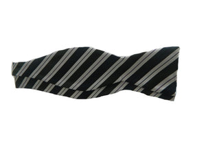 Blue Striped Tie | Black Striped Bowtie | Blue Striped Bow Tie