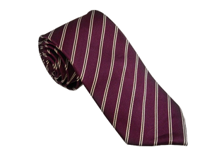 Purple Striped Tie | Mens Ties | Silk Ties | Silk Neckties