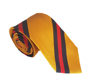 Dark Yellow Tie Australia | Formal Ties Australia | Yellow Striped Tie Australia