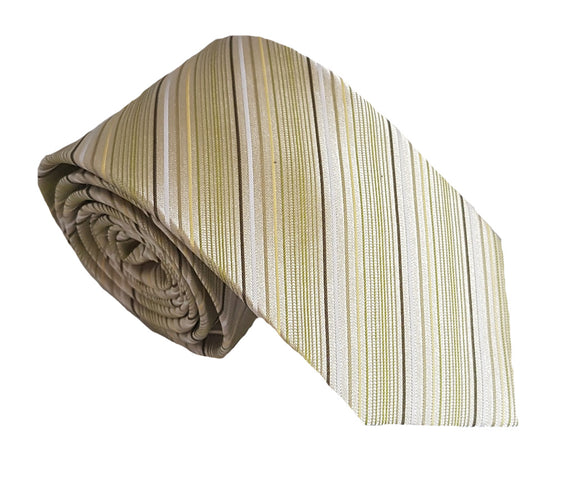 Light Green Stripe Silk Tie | Green Tie