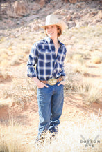 Load image into Gallery viewer, Mens Blue Plaid
