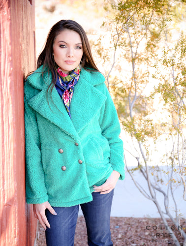 Womens Teal Jacket