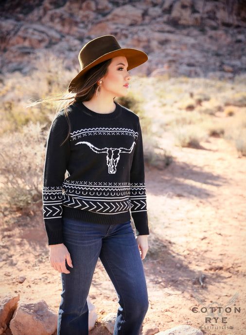 Womens black sweater