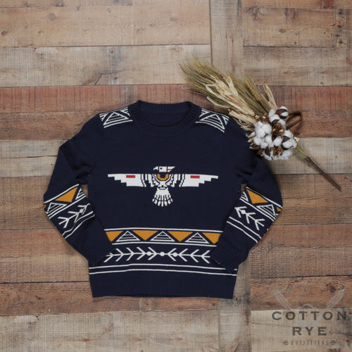 Womens Sweater Thunderbird Navy