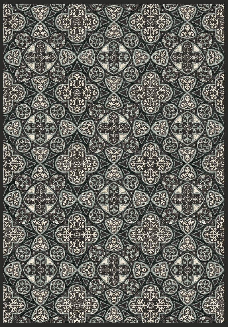 Genova Black White Abstract Rug By Sitap