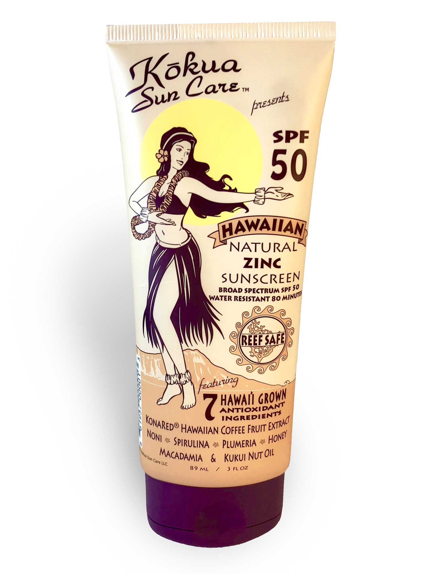 HAWAIIAN NATURAL ZINC SUNSCREEN SPF 50 3 PACK