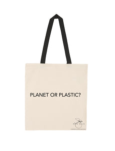 PLANET OR PLASTIC? TOTE BAG