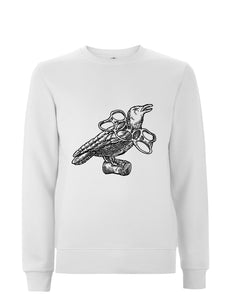 Stranded Bird Embroidered Sweatshirt.