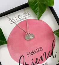 Load image into Gallery viewer, Sterling Silver Personalised Two Initials Necklace