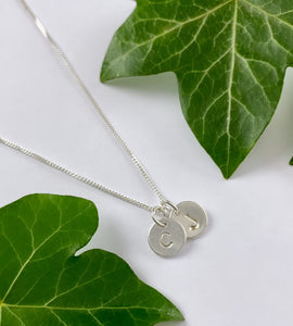 Sterling Silver Personalised Two Initials Necklace