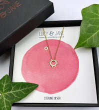 Load image into Gallery viewer, Gold Sun Necklace