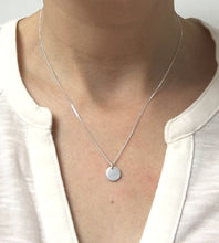 Load image into Gallery viewer, Sterling Silver Personalised Initial Disc Necklace