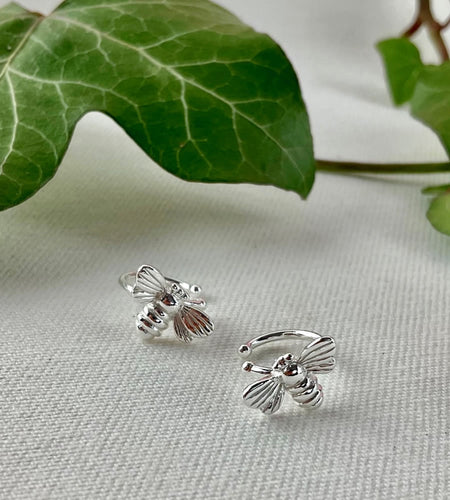 Sterling Silver Bee Cuffs