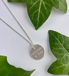 Sterling Silver Hidden Message Necklace
