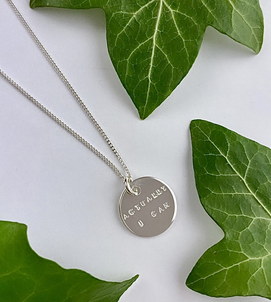 Sterling Silver Hand Stamped Name or Message Necklace
