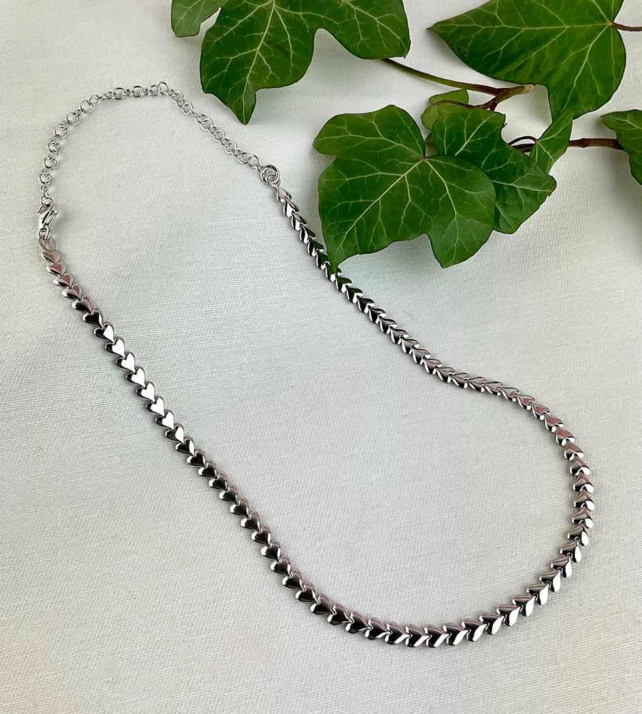 Sterling Silver hearts necklace