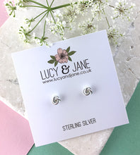 Load image into Gallery viewer, Sterling Silver Knot Stud Earrings