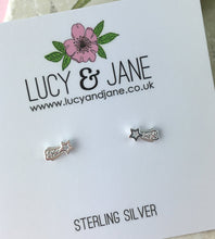 Load image into Gallery viewer, Sterling Silver Shooting Star Earrings