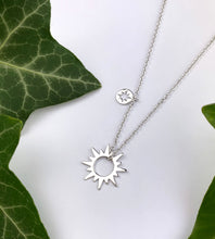 Load image into Gallery viewer, Sterling Silver Sun Necklace