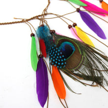 Load image into Gallery viewer, Native American Indian artificial hair accessories feather headband