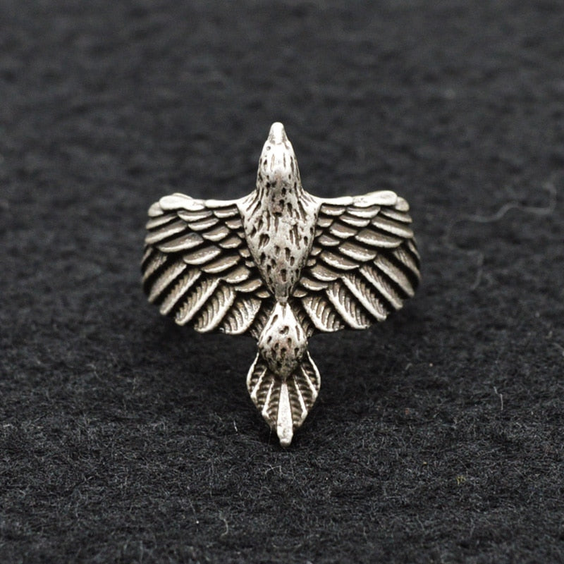 Beautiful Viking Raven Ring