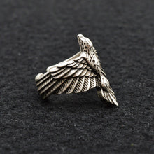 Load image into Gallery viewer, Beautiful Viking Raven Ring