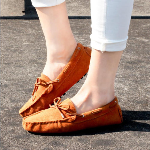 Genuine Leather Casual Loafers Slip On  Moccasins
