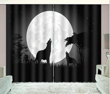 Load image into Gallery viewer, Night Wolf  Blackout Drapes