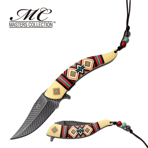 8.5 Native American Indian Spring Pocket Knife