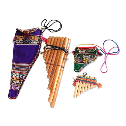 Decorative Wind Inca Serenade' (Pair) Bamboo zampona panpipes
