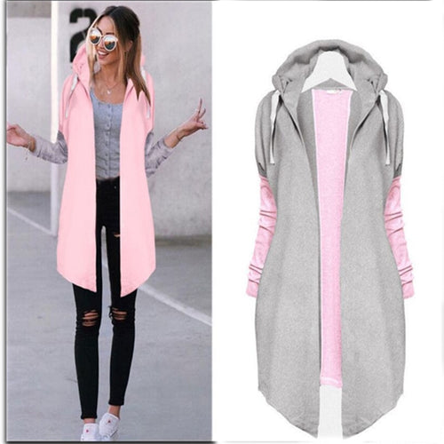Casual Long  Women's Hoody Cardigans