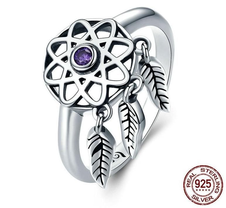 Sterling Silver Beautiful Dream Catcher Ring