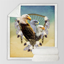 Load image into Gallery viewer, American Flag Eagle Dream Catcher Blanket