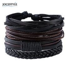 Load image into Gallery viewer, Leather Bangles Charm Bracelet