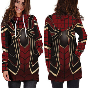 Casual Streetwear Hoodies Dress Women Avengers 3D Print Autumn Sweatshirts Pullovers Long Sleeve Winter Clothing Unicorn Dress