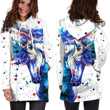 Load image into Gallery viewer, Casual Streetwear Hoodies Dress Women Avengers 3D Print Autumn Sweatshirts Pullovers Long Sleeve Winter Clothing Unicorn Dress