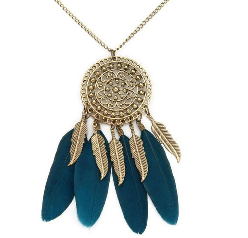 Native American Fringe Necklace Collier attrape reve Colares Boho Chic Collana Choker Necklaces