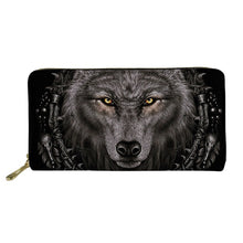 Load image into Gallery viewer, Wolf Print Wallet Credit Card Holder
