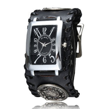 Load image into Gallery viewer, Cool Wolf Laser Engraved  Rivet Skeleton Big Dial Men's Wrist Watch