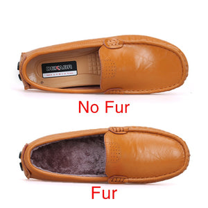 High Quality Genuine Leather Men Shoes Soft Moccasins Loafers Fashion Brand Men Flats Comfy Driving Shoes 1