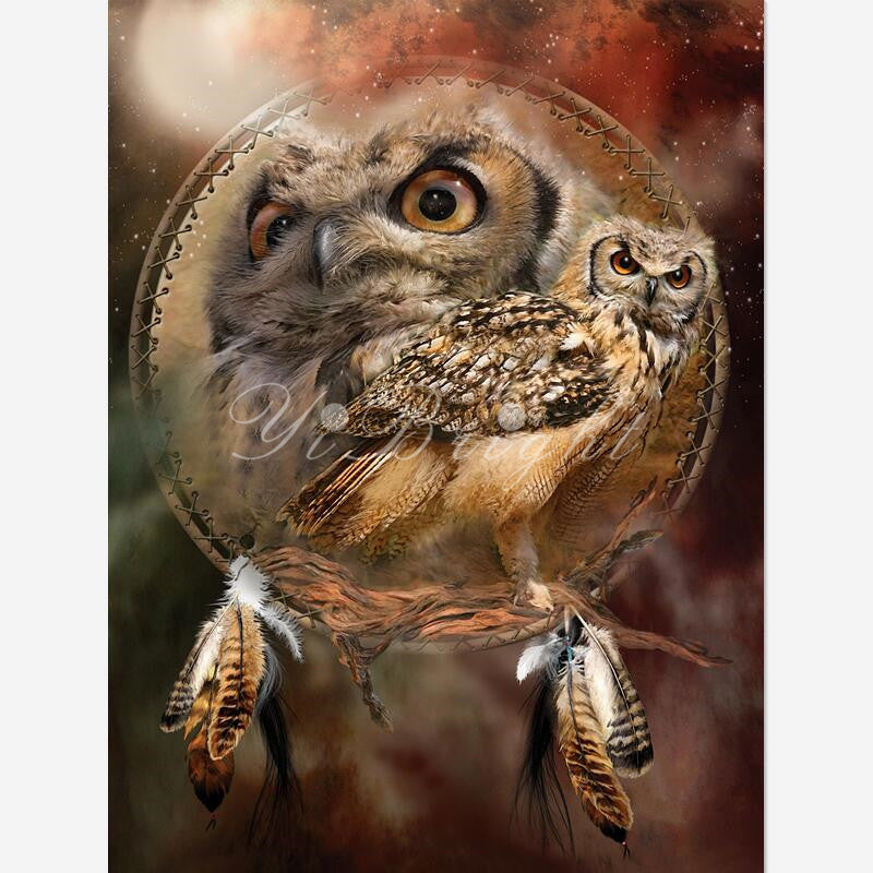 DIY Diamond Painting THE Spirit Of Owl Cross Stitch Needlework