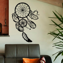Load image into Gallery viewer, Dream Catcher Wall Decal- Gold Dreamcatcher Wall Stickers Hippie Native America Boho Bohemian Bedroom Wall Art Home Decor
