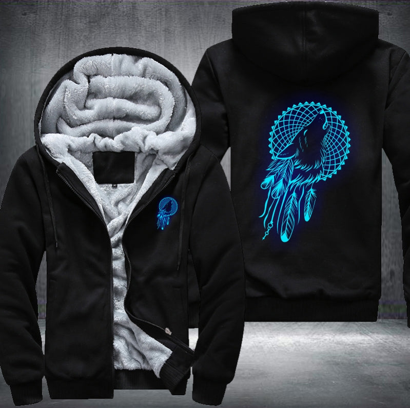 Wolf Dream Catcher  Zipper Jacket