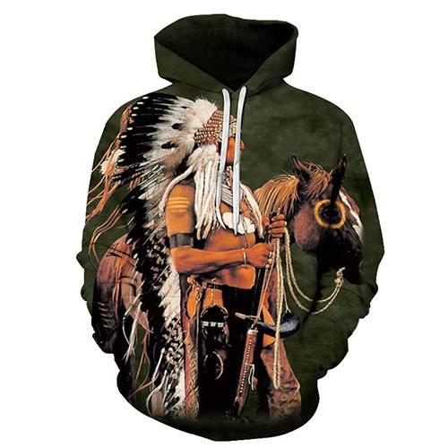Native Warrior & His Horse