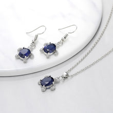 Load image into Gallery viewer, Exquisite Turtle Necklace Pendant Earring Cute Love Gifts Set