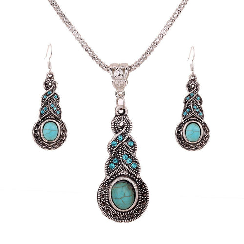 Tears Retro Ethnic Necklace Set