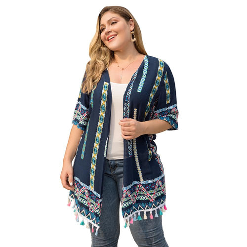 Fringed Lace Stitching  Casual Cardigan Coat
