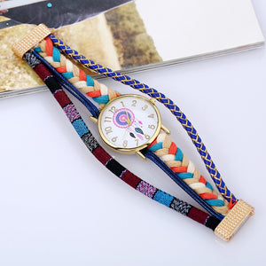 Ethnic Style  atrapasueno watch Fashion Women Wristwatch  peruvian  bracelet magnet Dream Catcher