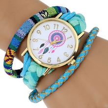 Load image into Gallery viewer, Ethnic Style  atrapasueno watch Fashion Women Wristwatch  peruvian  bracelet magnet Dream Catcher