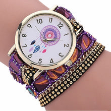 Load image into Gallery viewer, Large Strap BIG Dial Native Ethnic Style  Fashion woman wristwatch Lace Bracelet watch